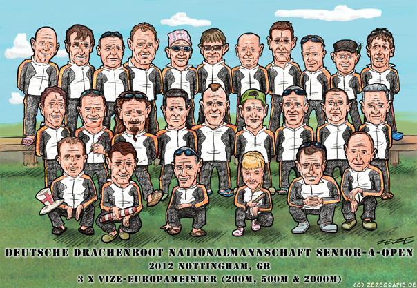 Illustration Nationalteam Drachenboot 2012 Nottingham Senior Open