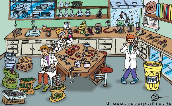 Suchbild Bonbonlabor Forschen Labor