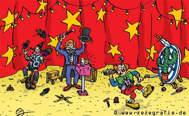 suchbild zirkusworkshop zauberei jonglieren messerwerfen