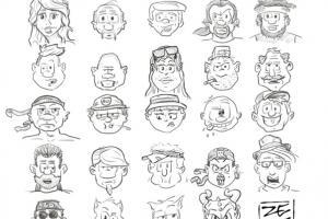 Comic Charakter Skizzen