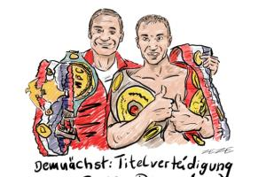 karikatur klitschko boxtitel