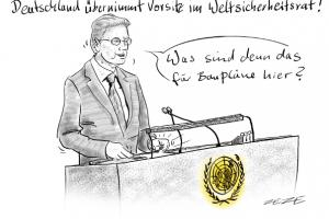 karikatur westerwelle sicherheitsrat
