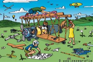 Suchbild Flugzeugbau