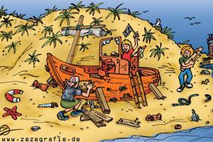 Suchbild Schiffswrack Reparieren Strand